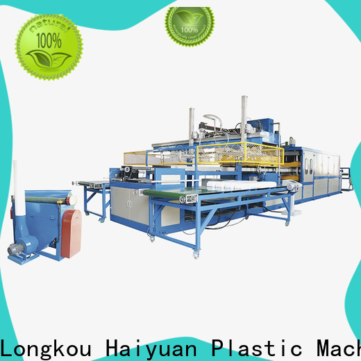 Haiyuan worktables small vacuum forming machine factory for fast food box