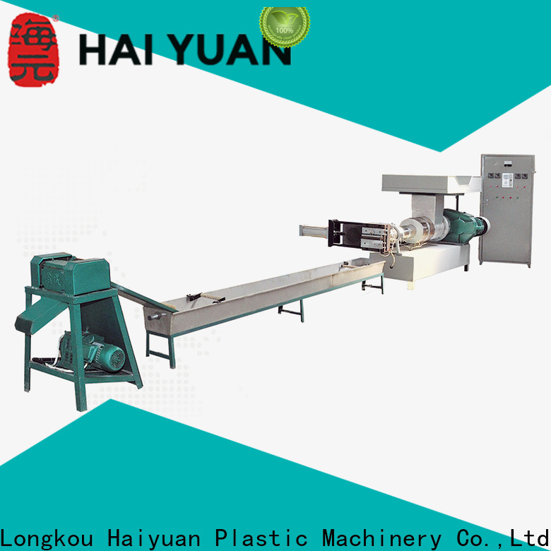 Haiyuan Wholesale waste plastic recycling machine suppliers for fast food box