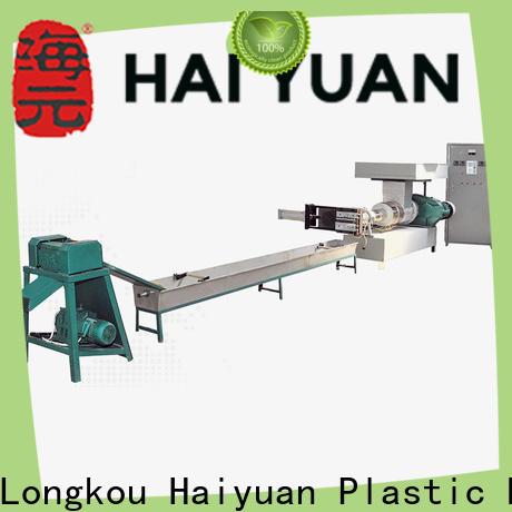 Haiyuan recycling PE recycling machine supply for take away food