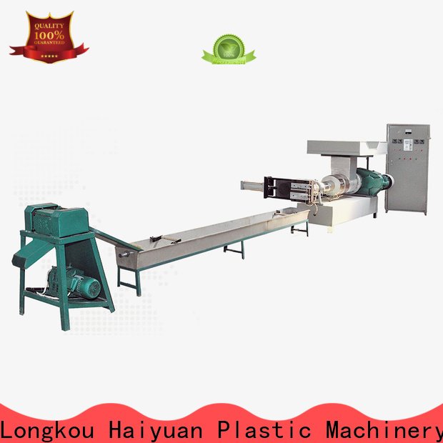 Haiyuan Wholesale small plastic recycling machine suppliers for food box