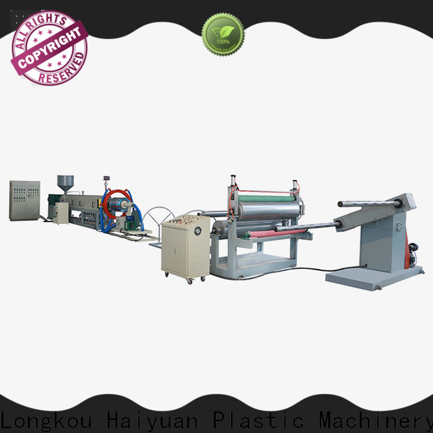Haiyuan New epe foam cloth production line for business for take away food