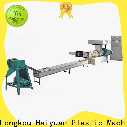 Haiyuan Wholesale plastic recycling machine price suppliers for fast food