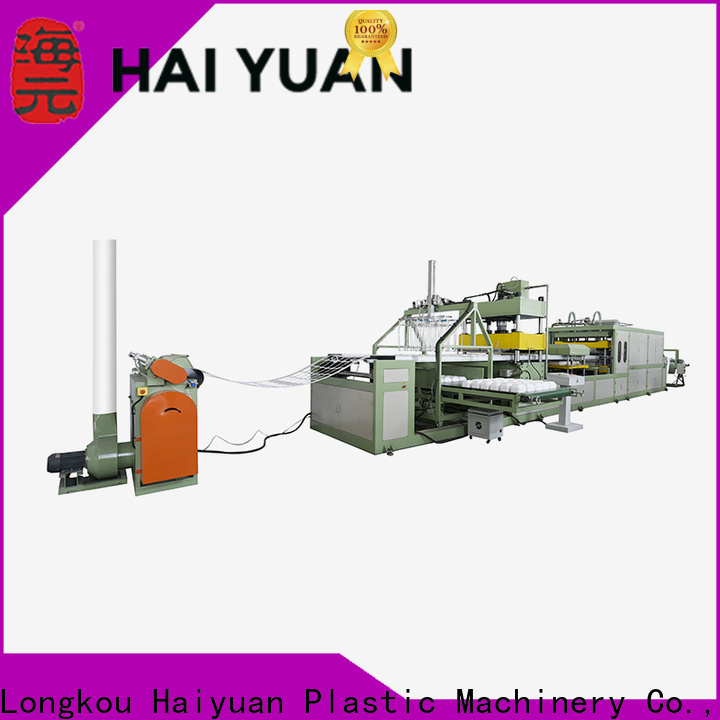 Haiyuan tray thermocol plate machine price company for fast food