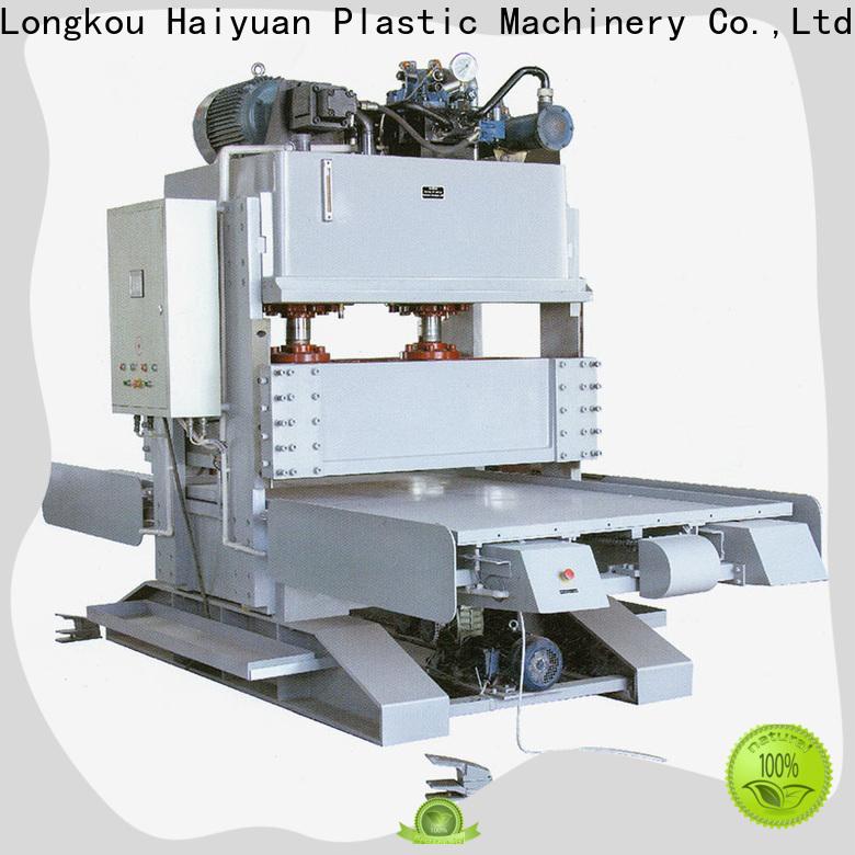 Haiyuan hydraulic epe foam sheet cutting machine manufacturers for fast food box