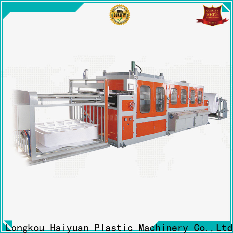 Haiyuan New small vacuum forming machine company for take away food