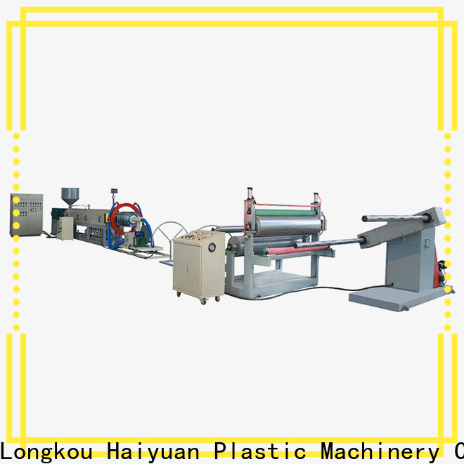 Haiyuan line epe foam cloth production line suppliers for fast food