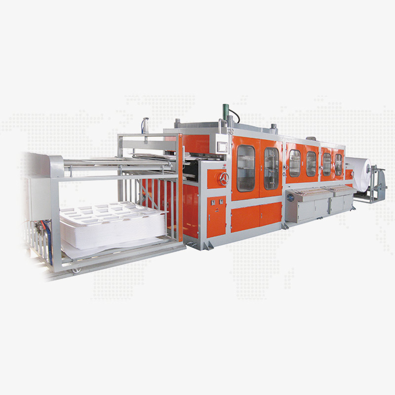 Haiyuan High-quality semi automatic vacuum forming machine supply for fast food-1